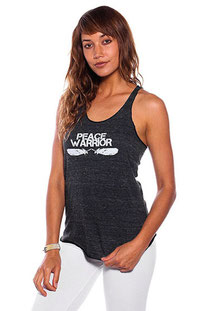"BE LOVE –TANK TOP ""PEACE WARRIOR RACER TANK"" ECO CHARCOAL"