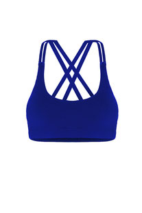 "DHARMABUMS - BH TOP ""PRANA FLOW SPORTS BRA - AZURE"""