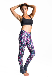 "DHARMABUMS - LEGGING ""POLKA PANSY"" HIGH WAIST, FULL LENGTH"