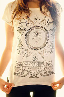 "MY POSITIVE VIBES – SHIRT ""HEY SUNSHINE"" WEISS"