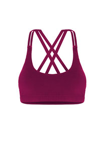 "DHARMABUMS - BH TOP ""PRANA FLOW SPORTS BRA - MULBERRY"""