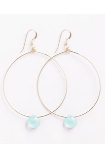 "WANDERLUSTLIFE - OHRRING ""LARGE TUSCANY HOOPS - SEA GLASS CHALCEDONY"""