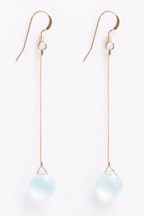 "WANDERLUSTLIFE OHRRING ""RIO DROP - SEA GLASS CHALCEDONY"""
