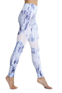 "I AM VIBES - LEGGINGS ""BLUE DOVE MESH"""