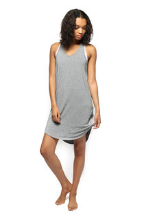 "ELECTRIC & ROSE – DRESS ""CALIFORNIA RAZOR BACK DRESS"" HEATHER GREY"