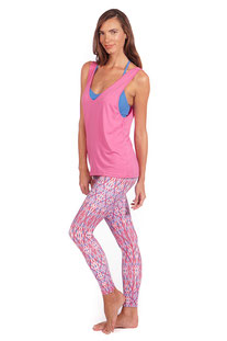 "NUX – TANK TOP ""FLEX TANK"" PINK WAVE"