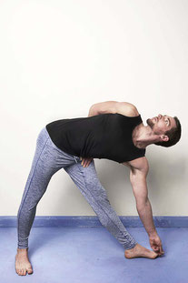 "OHMME – PANTS ""DHARMA YOGA"" BLUE"