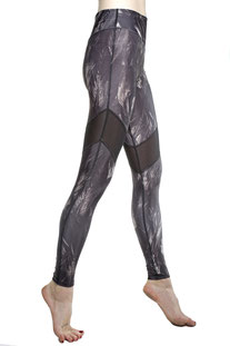 "I AM VIBES – LEGGINGS ""CROW MESH"""
