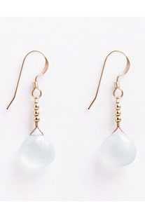 "WANDERLUSTLIFE OHRRING ""MINI RIO DROP - SEA GLASS CHALCEDONY"""