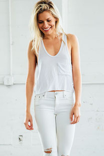 "JOAH BROWN – TANK TOP ""HERMOSA"" WHITE"