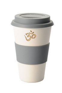 "COFFEE-TO-GO BECHER ""OM"" WEISS"