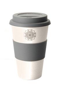 COFFEE-TO-GO BECHER 'SRI YANTRA' WEISS