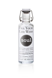 """SOULBOTTLE – TRINKFLASHE 0,6L """"FILL YOUR LIFE WITH SOUL"""""""