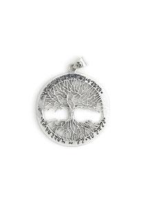 "SPIRITUAL TRIBE - ANHÄNGER ""TREE OF LIFE"" Ø 37 mm - SILBER 925"