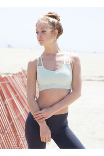 "NUX – BRA TOP ""STRAPPY BRA"" GREEN TEA"