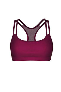 "DHARMABUMS - BH TOP ""Y-POWER SPORTS BRA - MULBERRY"""