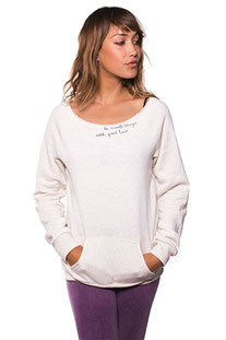"BE LOVE – LONGSLEEVE ""DO SMALL THINGS WITH GREAT LOVE ECO FLEECE PULLOVER"" MOON"
