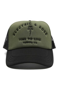 "ELECTRIC & ROSE - HAT ""TIME TO LIVE HATIN ARMY"" GREEN"