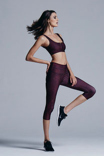 "VARLEY 3/4 LEGGING ""PICO CLARET CROC TIGHT"""
