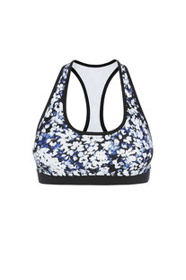 "DHARMABUMS - BH TOP ""DAISY BLUE - NARROW BACK MUSCLE CROP SPORT BRA"""