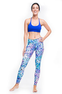 "DHARMABUMS - LEGGING ""DISCO GLITTER"" HIGH WAIST, FULL LENGTH"