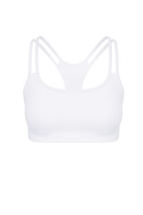 "DHARMABUMS - BH TOP ""Y-POWER SPORTS BRA - WHITE"""