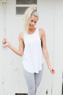 "JOAH BROWN – TANK TOP ""LAZY DAY"" WHITE"