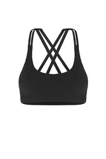 "DHARMABUMS - BH TOP ""PRANA FLOW SPORTS BRA - BLACK"""