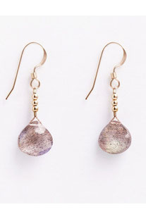 "WANDERLUSTLIFE OHRRING ""MINI RIO DROP - IRIDESCENT LABRADORITE"""