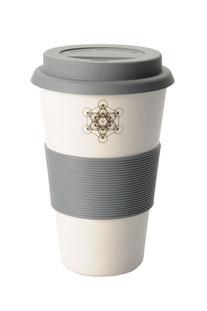 "COFFEE-TO-GO BECHER ""METATRON'S CUBE"" WEISS"