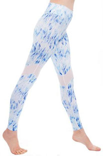 "I AM VIBES - LEGGINGS ""LIGHT BLUE DOVE MESH"""