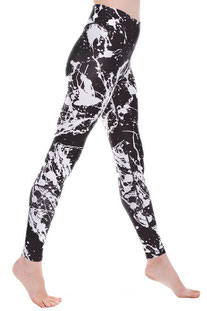 "I AM VIBES – LEGGINGS ""BLACK EXPRESSION"""