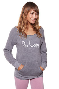 "BE LOVE – LONGSLEEVE ""BE LOVE ECO FLEECE PULLOVER"" ECO HEATHER GREY"