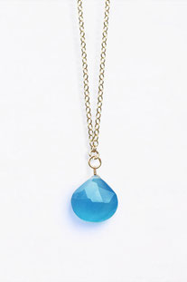 "WANDERLUSTLIFE HALSKETTE ""LONG LINES COLLECTION - BLUE CHALCEDONY"""
