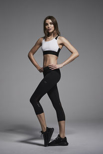 "VARLEY VARLEY – CAPRIS ""LEXINGTON CROPPED TIGHT LEGGINGS ""POWER BICKNELL TIGHT"" BLACK"