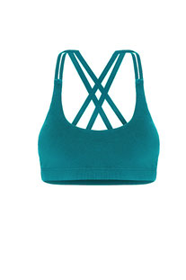 "DHARMABUMS - BH TOP ""PRANA FLOW SPORTS BRA - LAGOON"""