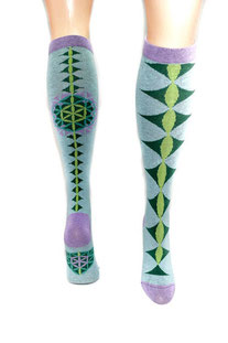 "SYMBOLIC SOCKS – YOGA SOCKEN ""FLOWER OF LIFE"" – KNEE LENGHT"