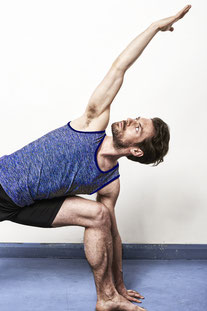 "OHMME – TANK TOP ""VAJRA YOGA VEST FOR MEN"" BLUE"