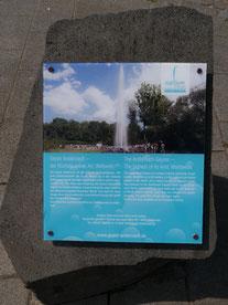 Info-Tafel am Geysir: Geysir Andernach