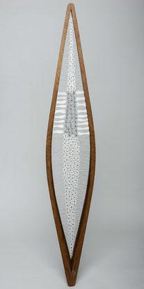 Bois / fil de fer / soudures / papier - hauteur: 180 cm (atelier