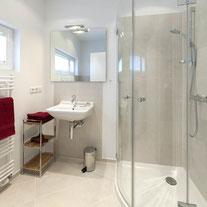 Luxuriöses Badezimmer im Appartement Fachwerkstube.