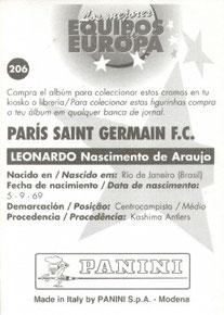N° 206 - Nascimento de Araujo LEONARDO (Verso)
