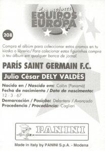 N° 208 - Julio Cesar DELY VALDES (Verso)