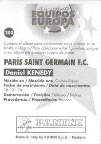 N° 202 - Daniel KENEDY (Verso)