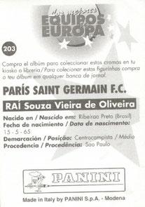 N° 203 - Souza Vieira de Oliveira RAI (Verso)