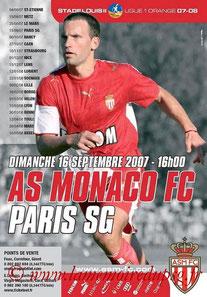 Affiche  Monaco-PSG  2007-08