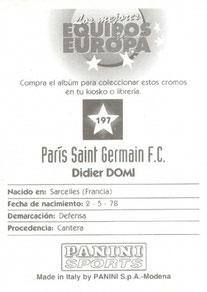 N° 197 - Didier DOMI (Verso)