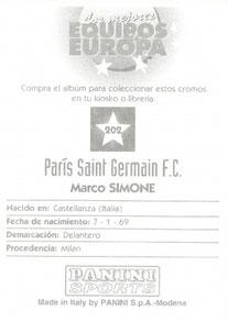 N° 202 - Marco SIMONE (Verso)