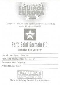N° 199 - Bruno N'GOTTY (Verso)