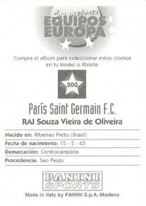 N° 200 - Souza Vieira de Oliveira RAI (Verso)